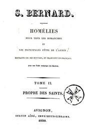 Homélies pour tous les dimanches et les principales fêtes de l'année, extraites de ses oeuvres, et traduites en français, etc