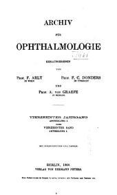 Archiv für Ophthalmologie: Band 14