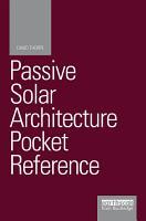 Passive Solar Architecture Pocket Reference PDF