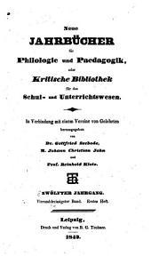Neue Jahrbücher für Philologie und Paedagogik: Band 34