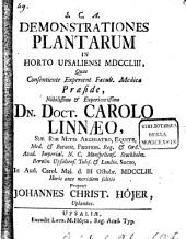 Demonstrationes plantarum in horto Upsaliensi