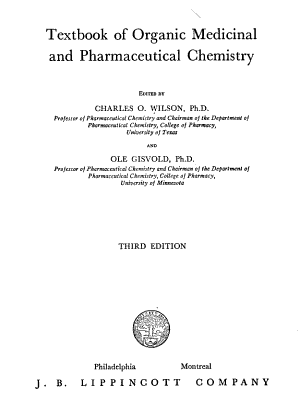 Textbook of Organic Medicinal and Pharmaceutical Chemistry PDF