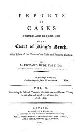 Reports of Cases Argued and Determined in the Court of King's Bench: With Tables of the Names of Cases and Principal Matters, Volume 2