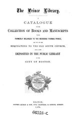 Minor Catalogues of the Public Library of the City of Boston  Fingierter Sammeltitel  PDF