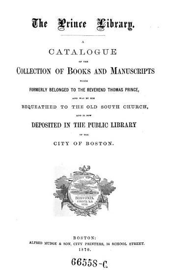 Minor Catalogues of the Public Library of the City of Boston  Fingierter Sammeltitel  PDF