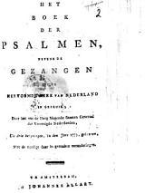 Het boek der Psalmen, nevens de gezangen, bij de Hervormde Kerk van Nederland in gebruik