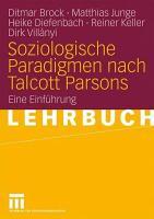 Soziologische Paradigmen nach Talcott Parsons PDF