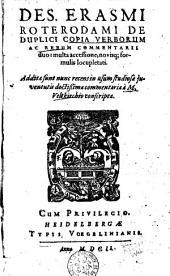 De duplici copia verborum ac rerum commentarii duo: Volume 2