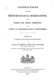 Instructions for Taking Meteorological Observations