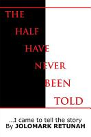 The Half Have Never Been Told PDF