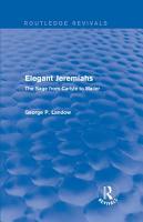 Elegant Jeremiahs  Routledge Revivals  PDF