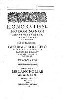 The Anatomy Of Melancholy  What it Is  With All the Kinds Causes  Symptomes  Prognostickes    Seuerall Cures of It  In Three Partitions with Their Severall Sections  Members   Subsections     By Democritus Junior      The Fift Edition  Corrected and Augmented by the Author
