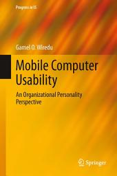 Mobile Computer Usability: An Organizational Personality Perspective