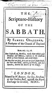 The Scripture History of the Sabbath