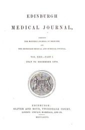 Edinburgh Medical Journal: Volumes 21-22