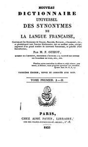Nouveau dictionnaire universel des synonymes de la langue fran  aise PDF