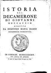 Istoria del Decamerone di Giovanni Boccaccio