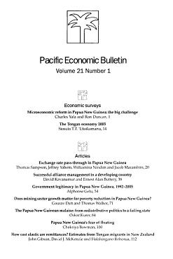 Pacific Economic Bulletin PDF
