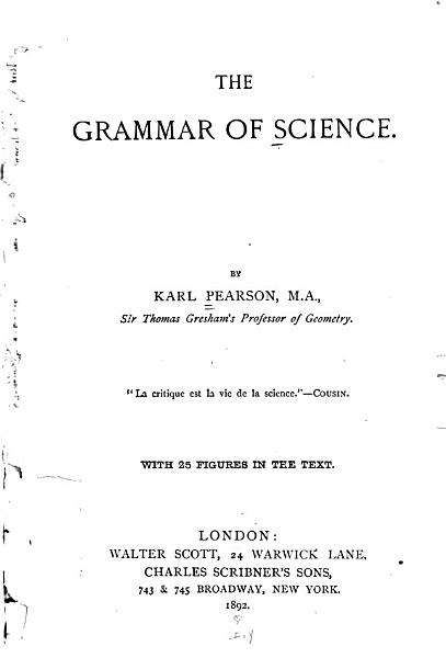 The Grammar of Science PDF