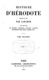Histoire d'Herodote traduite du Grec par Larcher: Volume2