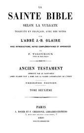 La Sainte Bible selon la Vulgate traduite en français, avec des notes