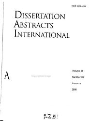 Dissertation Abstracts International Book PDF