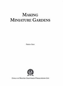 Making Miniature Gardens PDF