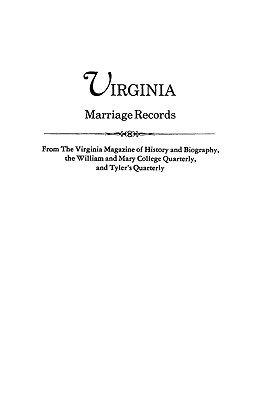 Virginia Marriage Records PDF