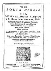 Bāb Mūsā: sive Dissertationes ... quae ad universam fere Iudaeorum disciplinam aditum aperiunt