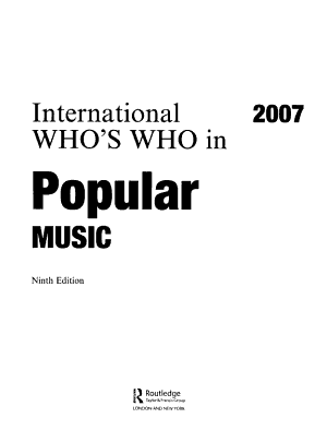 International Who s Who in Popular Music 2007 PDF