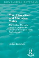 Routledge Revivals  The Universities and Education Today  1962  PDF
