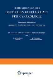 Archiv für Gynäkologie: Organ der Deutschen Gesellschaft für Gynäkologie