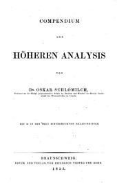 Compendium der höheren Analysis