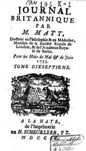 Journal britannique: Volume17