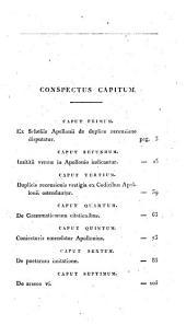 Lectiones Apollonianæ