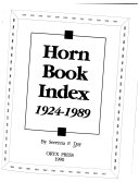 Download Horn Book Index  1924 1989 Book