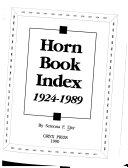 Horn Book Index, 1924-1989