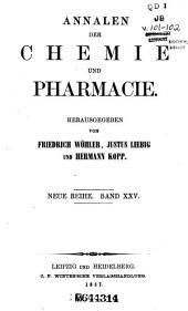 Annalen der Chemie und Pharmacie: Bände 25-26;Bände 101-102