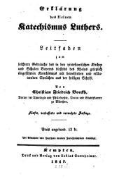 Erklärung des kleinen Katechismus Luthers