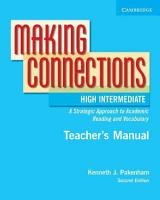 Making Connections High Intermediate Teacher s Manual PDF