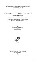The Birds of the Republic of Panama  Columbidae  pigeons  to Picidae  woodpeckers  PDF