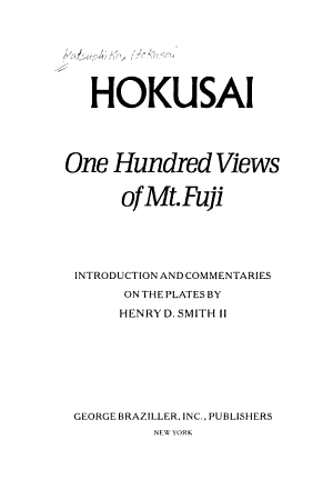 One Hundred Views of Mt  Fuji