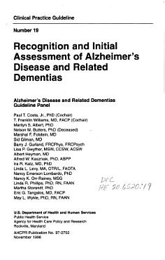 Recognition and Initial Assessment of Alzheimer s Disease and Related Dementias PDF