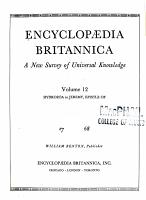 Encyclopaedia Britannica  a New Survey of Universal Knowledge PDF