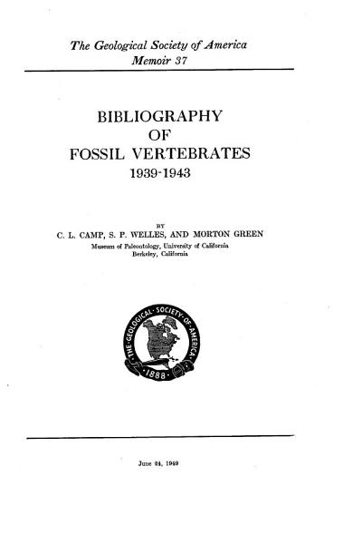 Download Bibliography of Fossil Vertebrates Book