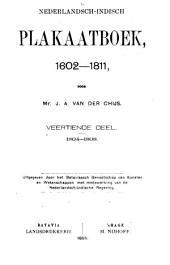 Nederlandsch-Indisch plakaatboek, 1602-1811: Volume 14