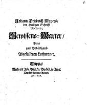Gewissens-Marter derer zum Papstthum abgefallenen Lutheraner