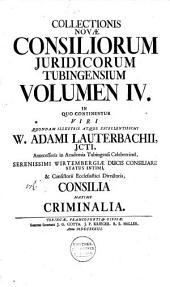 Inclytae facultatis juridicae Tubingensis consilia et responsa: Volume 8