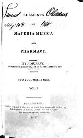 Elements of Materia Medica and Pharmacy