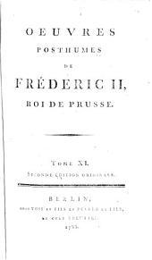 Oeuvres posthumes de Fréderic II, roi de Prusse..: Correspondance